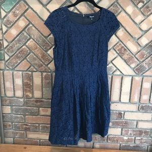 Navy Madewell Lace Dress